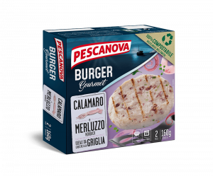 Immagine di Burger Gourmet Calamaro e Merluzzo