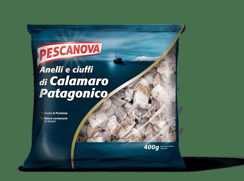 Anelli e ciuffi di Calamaro Patagonico
