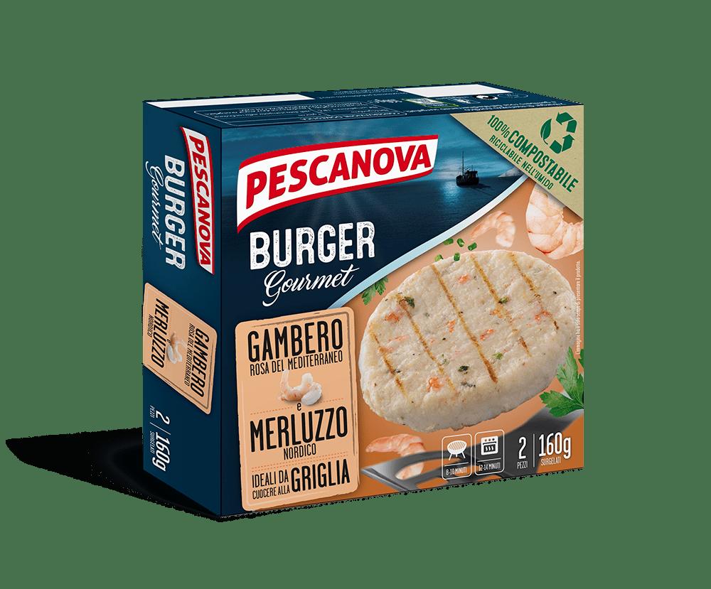Burger Gourmet Gambero e Merluzzo