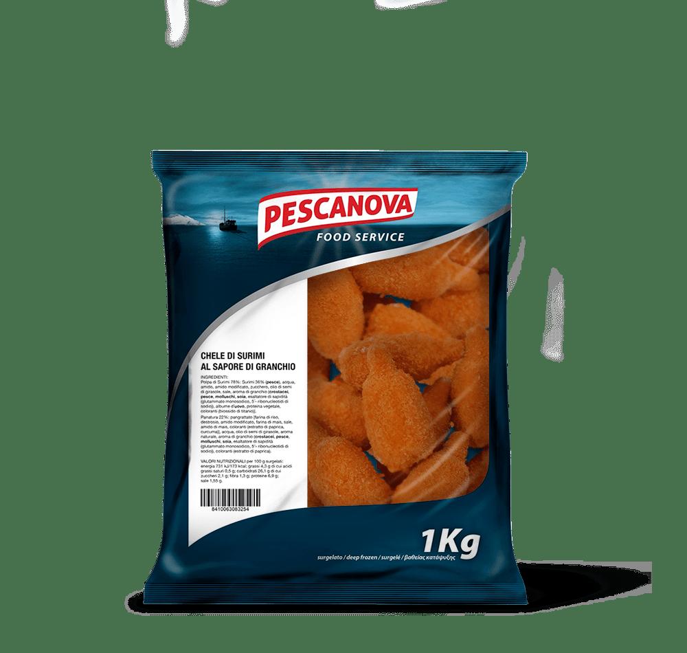 Chele di Surimi al sapore di Granchio Senza Glutine 1kg
