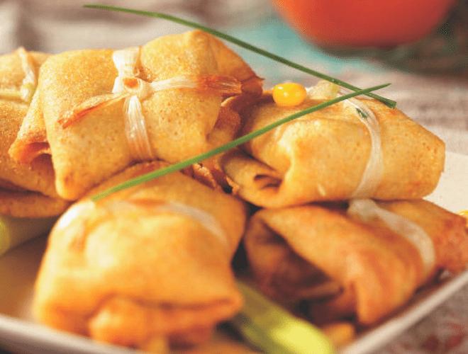 Crespelline fritte con surimi