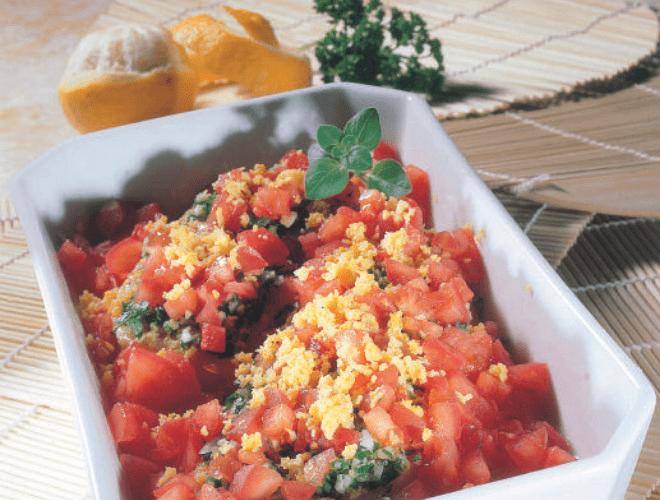 Filetti di merluzzo con pomodori e limone