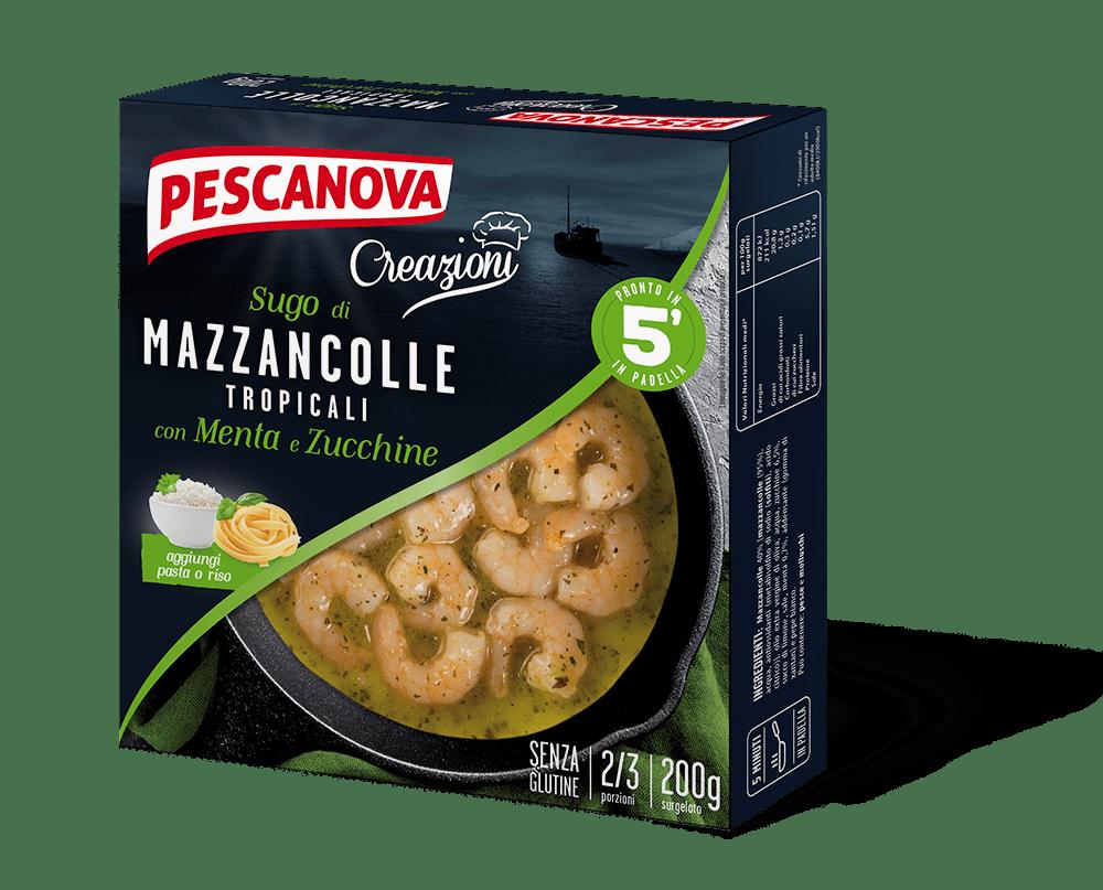 Sugo di Mazzancolle con menta e zucchine